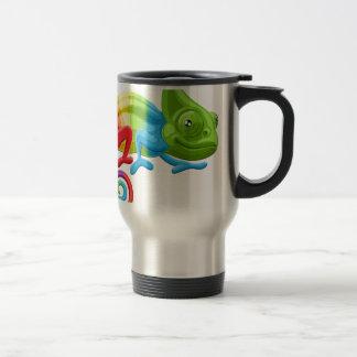 Caméléon d'arc-en-ciel mug de voyage