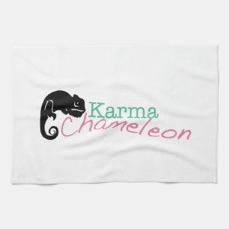 Caméléon de karma serviette éponge