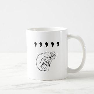 Caméléon de virgule mug