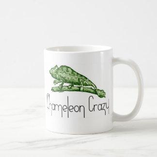 Caméléon fou mug