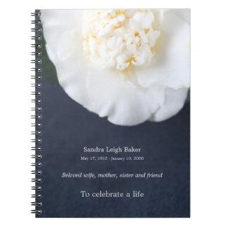 Camélia blanc carnet