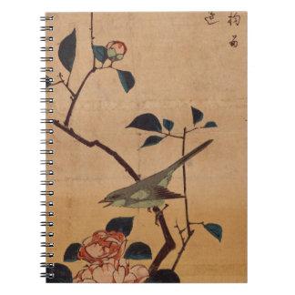 Camélia et fauvette de Bush par Hiroshige Carnets
