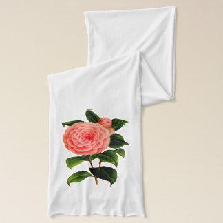 Camélia rose écharpe