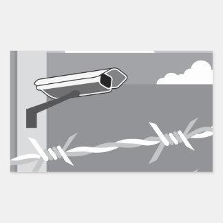 Caméra de sécurité. Fixez l'installation Sticker Rectangulaire