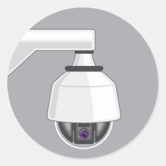 Caméra de sécurité sticker rond