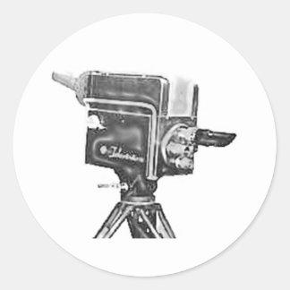 caméra de télévision de studio d'émission des adhésif rond