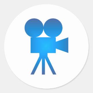 Caméra movie camera sticker rond