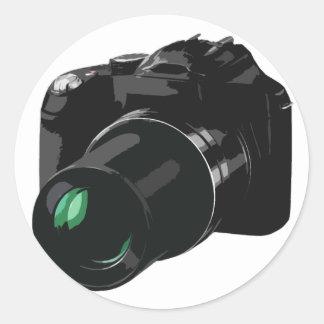 caméra photographique sticker rond