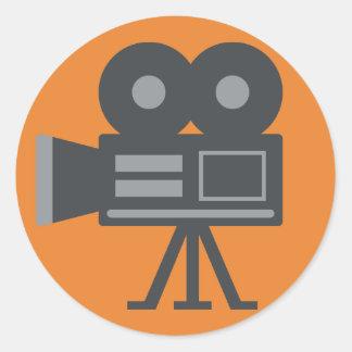 Caméra vidéo Emoji Sticker Rond