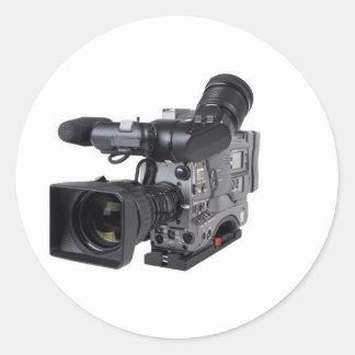 caméra vidéo professionnelle adhésif rond