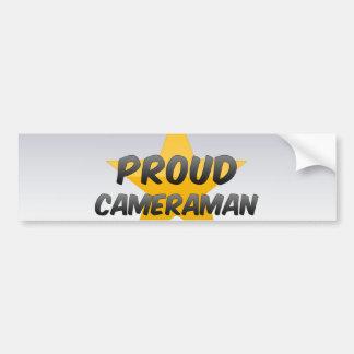 Cameraman fier autocollant pour voiture