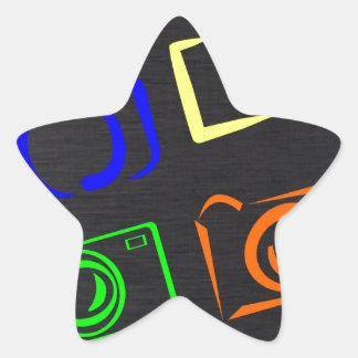 caméras autocollants en étoile