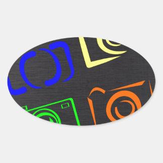 caméras stickers ovales