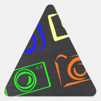 caméras sticker en triangle