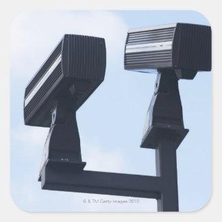 Caméras de sécurité sticker carré