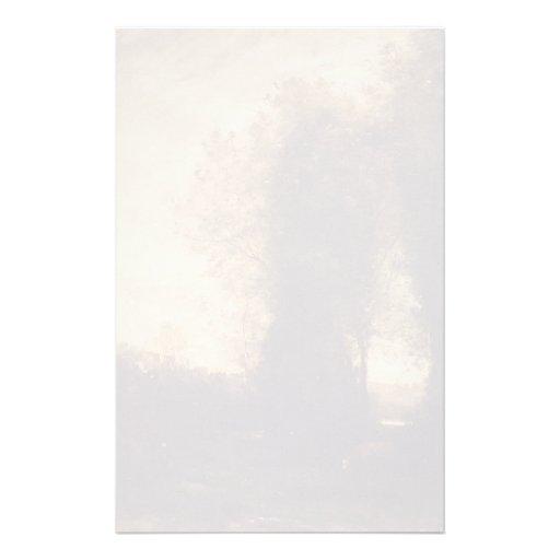Camille Corot- une vache et son gardien Papier À Lettre Personnalisé