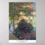 Camille dans le jardin Claude Monet de maison d'Ar Affiches