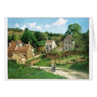 Camille Pissarro - huile de Pontoise 1867 Carte De Vœux