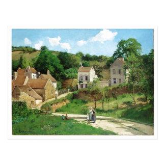 Camille Pissarro - huile de Pontoise 1867 Carte Postale