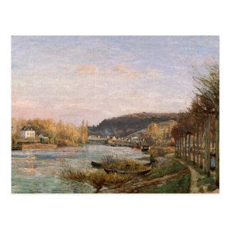 Camille Pissarro - la Seine chez Bougival Carte Postale