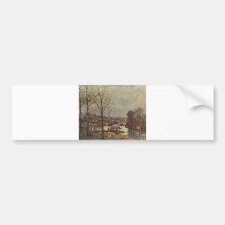 Camille Pissarro lavant la rivière d'huile de Poin Autocollant Pour Voiture