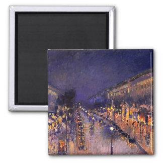 Camille Pissarro le boulevard Montmartre la nuit Aimant