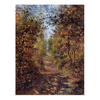Camille Pissarro- un chemin dans les bois, Carte Postale