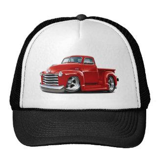 Camion 1950-52 de rouge de Chevy Casquettes De Camionneur