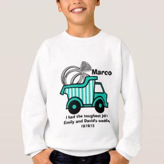 Camion à benne basculante de porteur d'alliances sweatshirt