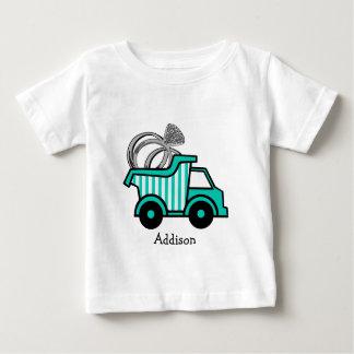 Camion à benne basculante de porteur d'alliances t-shirt pour bébé