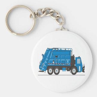 Camion à ordures porte-clé rond