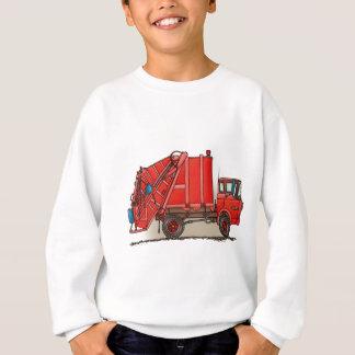 Camion à ordures rouge sweatshirt