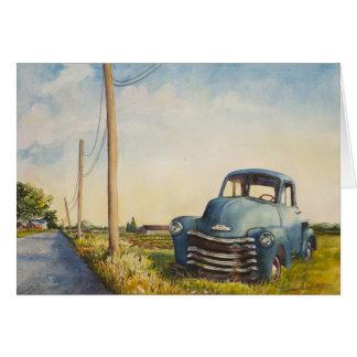 Camion bleu, North Fork, carte vierge
