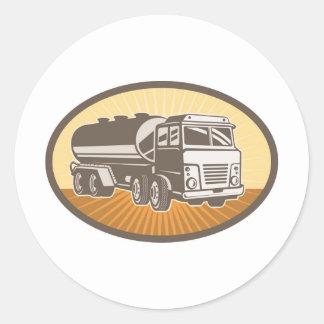 camion-citerne aspirateur d'essence de carburant adhésifs ronds