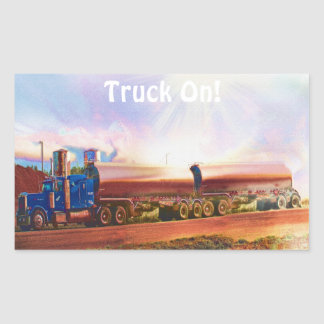 Camion-citerne aspirateur grande série sticker rectangulaire