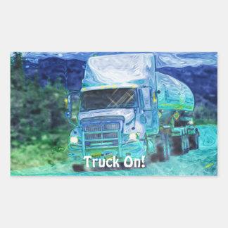 Camion-citerne aspirateur grande série stickers en rectangle