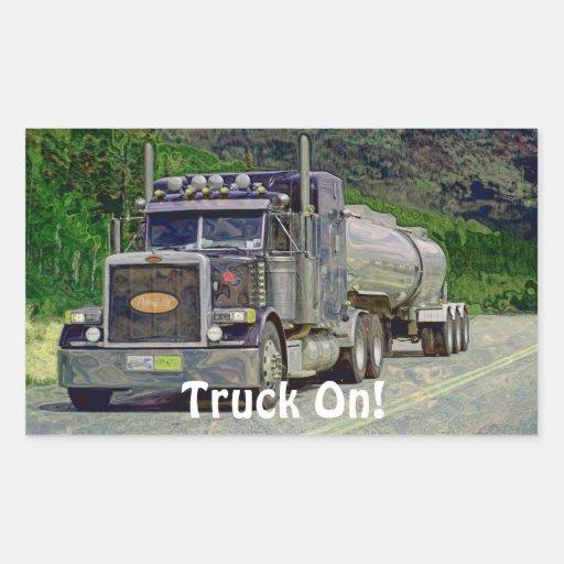 Camion-citerne aspirateur grande série stickers rectangulaires