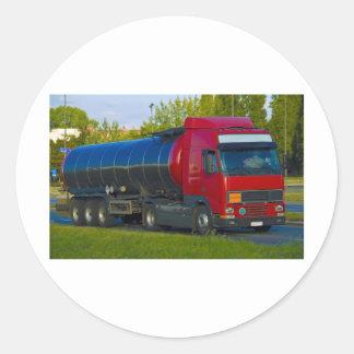 camion-citerne aspirateur sticker rond