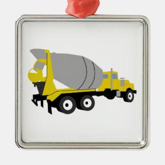 Camion de ciment ornement carré argenté