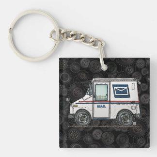 Camion de courrier mignon porte-clé
