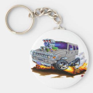 Camion de gris de H2 de Hummer Porte-clé Rond