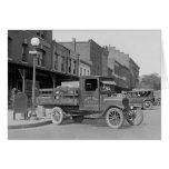 Camion de livraison de volaille, 1926 carte de vœux