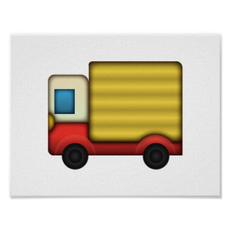 Camion de livraison - Emoji Poster