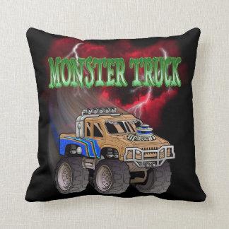 Camion de monstre coussins carrés