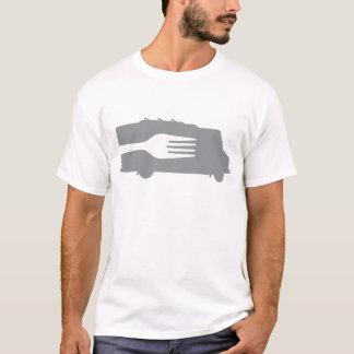 Camion de nourriture : Côté/fourchette (grise) T-shirt