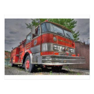 Camion de pompiers carte postale