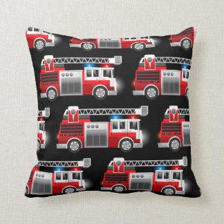 Camion de pompiers coussin décoratif