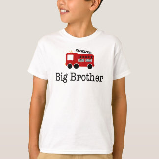 Camion de pompiers de rouge de frère t-shirt