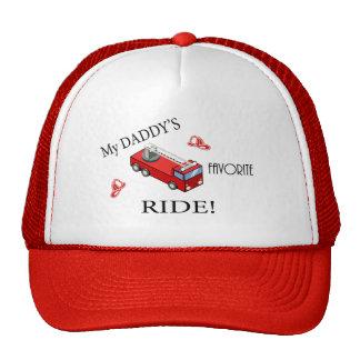 Camion de pompiers - le TOUR préféré de mon papa Casquettes De Camionneur
