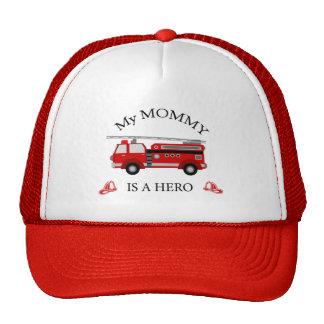 Camion de pompiers - ma maman est un HÉROS Casquettes